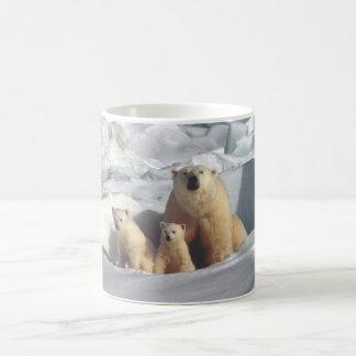 Tasse de café arctique de nature de faune de CUB