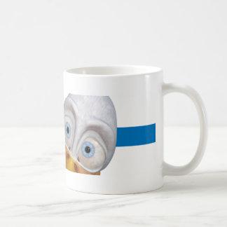 tasse de café avec droit le graphique de canard