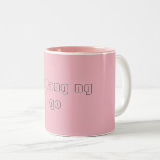 Tasse de café avec l'expression de Tagalog