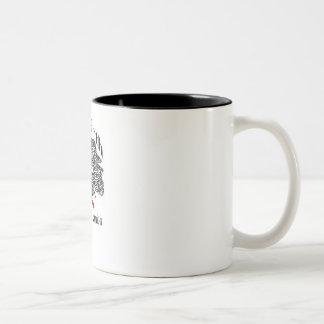 Tasse de café blanc et noir