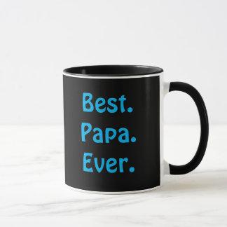 """Tasse de café bleu et noir du """"meilleur papa"""