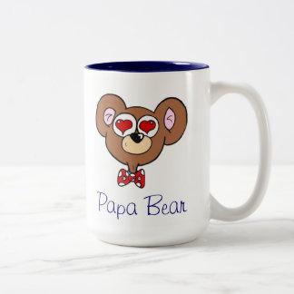 Tasse de café bleue mignonne d'ours de papa
