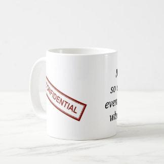 Tasse de café confidentielle de travail