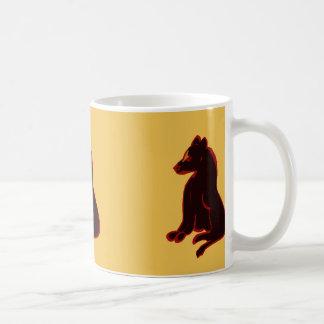 Tasse de café d'art moderne d'abrégé sur animal