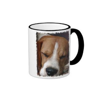 Tasse de café de beagle de sommeil