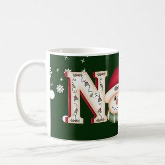 Tasse de café de bonhomme de neige de Noel de