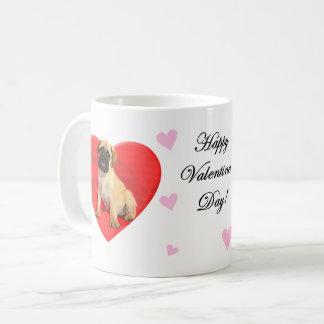 Tasse de café de Bullmastiff de Valentines de
