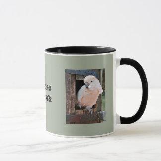 Tasse de café de cacatoès - perroquet bonjour