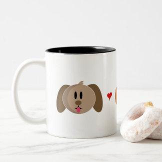 """Tasse de café """"de chat de poussin de chien"""""""
