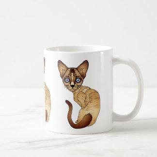 Tasse de café de chat siamois