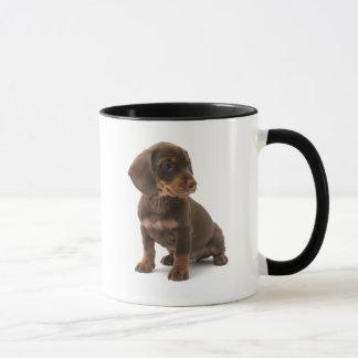 Tasse de café de chiot de teckel
