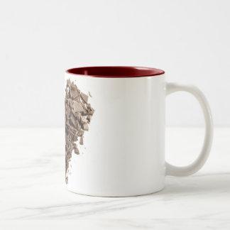 Tasse de café de coeur de chocolat