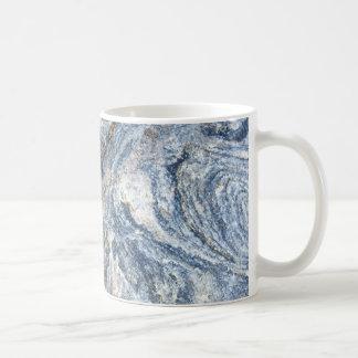 Tasse de café de conception de roche de granit