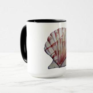 tasse de café de coquille de feston