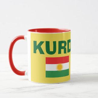 Tasse de café de drapeau du Kurdistan