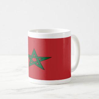 Tasse de café de drapeau du Maroc