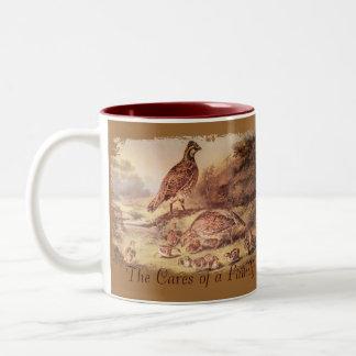 Tasse de café de famille de cailles