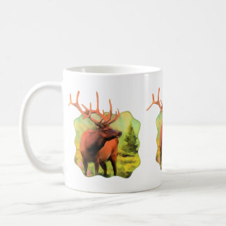 Tasse de café de faune d'élans de Taureau