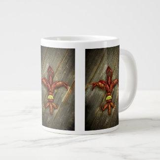 Tasse de café de Fleur-De-Lis d'écrevisses
