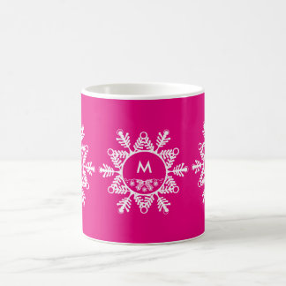 Tasse de café de flocons de neige de Noël de
