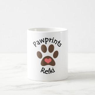 Tasse de café de logo de Pawprints Reiki