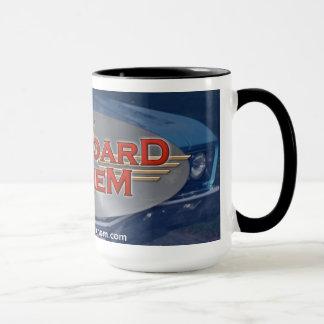 Tasse de café de logo de voiture d'hymne de