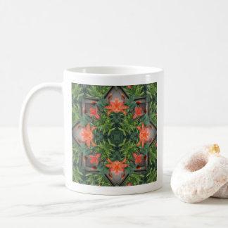 Tasse de café de mandala de jungle