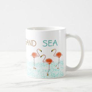 Tasse de café de mer de sable de Sun