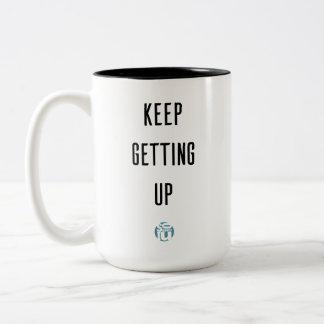 Tasse de café de motivation - continuez à se lever
