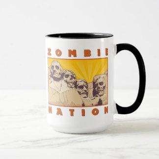 Tasse de café de nation de zombi