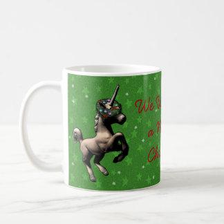 """Tasse de café de Noël """"de licorne de vacances"""""""