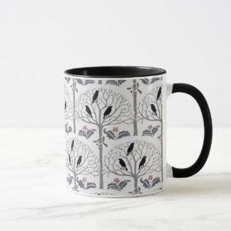 Tasse de café de Noël de motif de freux et de houx