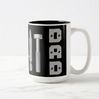 Tasse de café de papa de charpentier de mécanicien