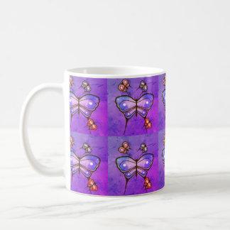 tasse de café de papillon
