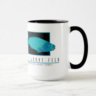 Tasse de café de poissons de perroquet d'Hawaï