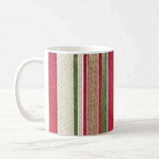 Tasse de café de ruban de Noël