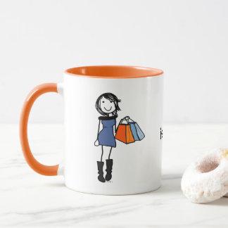 Tasse de café de thérapie d'achats