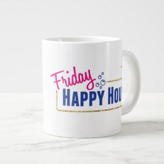 Tasse de café d'heure heureuse de vendredi