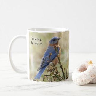 Tasse de café d'oiseaux bleus par