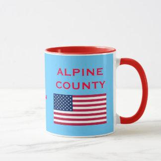 Tasse de café du comté d'Alpine la Californie