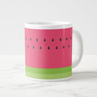 Tasse de café enorme de pastèque
