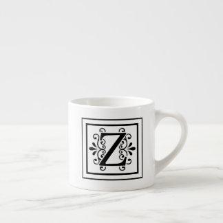 Tasse de café express de monogramme de la lettre Z