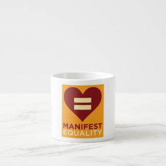 Tasse de café express d'égalité