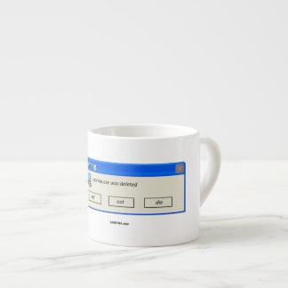 "- Tasse de café express supprimée ""par MARINA.exe"""