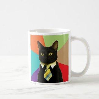 Tasse de café faite sur commande de chat d'affaire