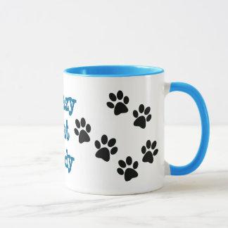 Tasse de café folle de Madame Pawprints Design de