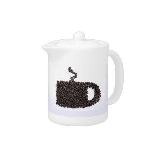 Tasse de café, grains de café