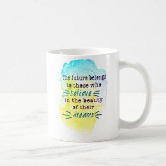 Tasse de café inspirée de citation d'aquarelle