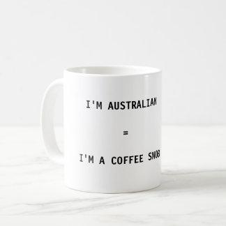 Tasse de café - je suis australien = je suis un