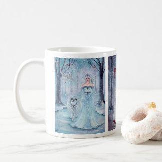 Tasse de café magique de reines d'hiver par Renee